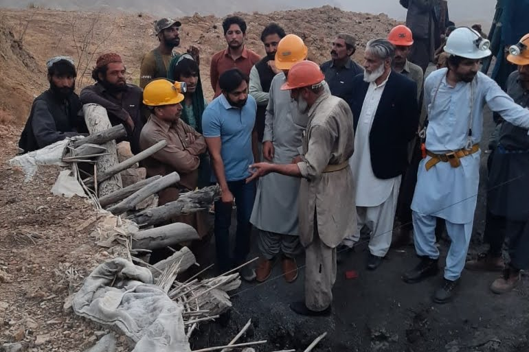 Rescue operation in Tor Ghar coal field of district Harnai Balochistan Province [Al Jazeera]